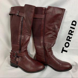 💎NWT💎 Torrid Women's Burgundy Riding Boots